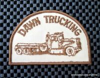 DAWN TRUCKING EMBROIDERED SEW ON ONLY PATCH ADVERTISING UNIFORM 3 7/8 x 2 1/2""