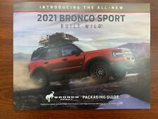 New 2021 Ford Bronco Sport Sales Dealership Brochure Packaging Guide 20 Pages