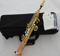 Sopranino Saxophone Customized Rose Copper Eb sax Low Bb high F# With Case