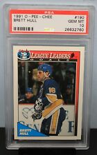 1991 O-PEE-CHEE # 190 Brett Hull PSA 10 GEM MT - PSA # 26632760 LEAGUE LEADERS