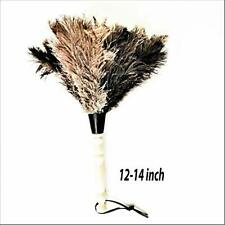 "Feather Duster Cleaning Tool Wood Handle Washable Ostrich Feathers 14-15"" long"