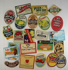 25 x Craft Scrapbooking Soft Drink Beer Labels Duckworth & Co Manchester