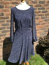 Marks And Spencer Navy Mix Fress Size 10