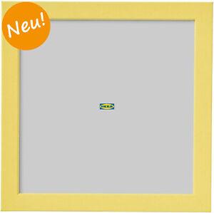 IKEA FISKBO Bilderrahmen 21 x 21 cm gelb Fotorahmen Bilder Foto Rahmen NEU