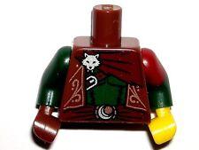 LEGO Reddish Brown Torso Vest, Sash, Silver Fox, Forest Rogue Minifigure 71013