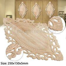 Wood Carved Applique Frame Onlay Unpainted Furniture Door Wall Home Decor Craft