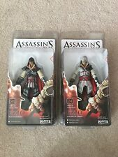 "Assassin's Creed Ezio 7"" Action Figures Neca Black Cloak & White Cloak -New-"