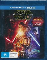 Star Wars The Force Awakens Blu-ray 2-disc NEW Digital copy