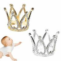 Mini Baby Crown Photography Prop Gold/Silver Headband Decor Memoria Fashion Y6A4