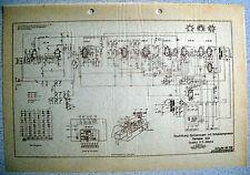 ITT/GRAETZ Fantasia 622 Schaltplan auf Transparentpapier