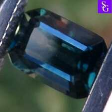 """Australian Natural Faceted Parti Color  0.57 ct Sapphire""""Stunning_Gemstones"""""""
