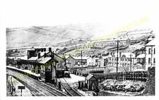 Tylorstown Railway Station Photo. Porth - Ferndale. Maerdy Line. Taff Vale. (2)