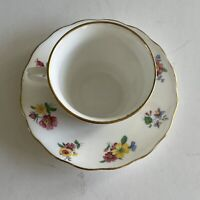 Vintage Tea Cup & Saucer VALE Bone China, Floral Made in Langton England