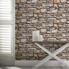 Arthouse Cornish Stone Brown Wallpaper 668900 Papier peint