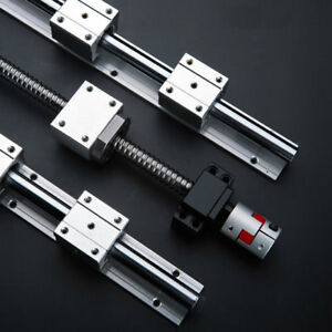 SBR20 Linear Rail + SBR20UU Bearing + 600mm SFU2005 Ball Screw +BK/BF15 Nut Seat