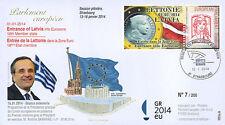 "PE655 FDC European Parliament ""Mr. SAMARAS - Presidency of Greece"" 01-2014"