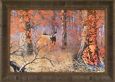 CAUGHT NAPPIN' by Ray Whitson FRAMED PRINT 20x28 Hunting Deer Buck Hunter Asleep