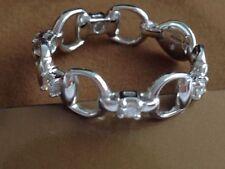 Gucci 18K Gold  Diamond Horsebit Ring Made In Italy Super Rare!!