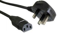 Power Cable UK Mains Fused Plug to IEC C13 Female Socket 13 Amp 2m 2 metres
