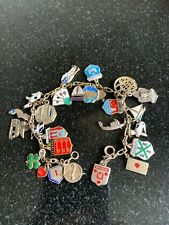 VINTAGE SILVER CHARM BRACELET WITH CHARMS