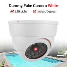 Dummy Fake Camera Security Flashing LEDs Infrared Light Home Indoor Dome White