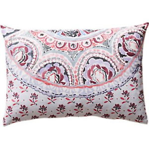 Anthropologie Aurora Cushion Pink Purple 55cm x 35cm