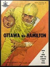 1964 CFL Football Program Ottawa Rough Riders vs Hamilton Tiger-Cats Unscored