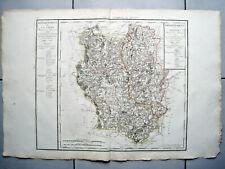 RIESIGE LANDKARTE FRANKREICH DEP. DE LA LOIRE DU RHONE 1793 KUPFERSTICH D'HOUDAN
