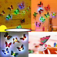 1pcs Random LED Butterfly Night Light Chrismas Home Party Wall Decoration Lamp
