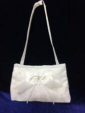 White Satin Bow Bag Holy Communion, Bridesmaid/Flower Girl BN