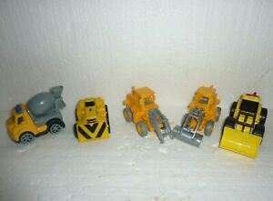 Lot of 5 Farm World Small Yellow Construction Tractor Lot  S-25