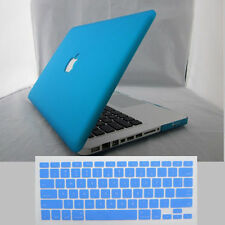 "Rubberized/Painted Hard Laptop Case for Macbook Pro 13""15 Air 11""+Keyboard Cover"