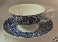 "QUEENS  FINE BONE CHINA ""BLUE STORY CALICO CUP&SAUCER""  BLST94141 Not Boxed"