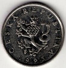 1995 CZECHOSLOVAKIA ONE 1 KORUNA NICE WORLD COIN