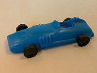 "Plastic 1960s Race Car Toy Blue Sprint Indy 500 Formula 1 Header Pipes 6"" 2 rare"