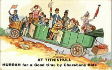 More details for postcard tintinhull nr yeovil somerset early comic charabanc by w stocker shaw