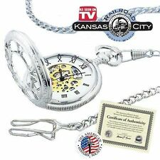 """Kansas City Railroad Pocket Watch 26"""" Chain As On TV Factory Sealed Brand New"""