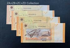 Malaysia - $20 ZA+ZB+ZC+ZD Collection ( 3 - zeti , 1 MBI )   UNC