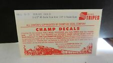 "Champ HO Decal Set# S-3 Stripes, 1 1/2"" HO or 3/4"" O Dulux Gold, NOS"