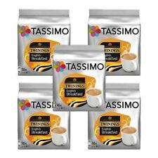 5 Packs Tassimo Twinings English Breakfast Tea T Discs Pods 80 T Discs 80 Drinks