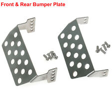 1/10 RC Traxxas TRX-4 Metallo Front Rear Skid Plate Bumper Lower Protect Plates