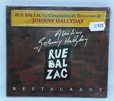 NEUF SCELLE JOHNNY HALLYDAY TRES RARE CD PROMO RUE BALZAC CARRE BLANC NUMEROTE