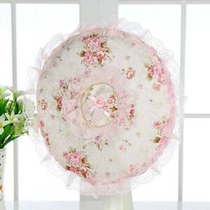 Antidust Cover Family Household Fan Cover Dust Cover Polyester Lace Dust Cover