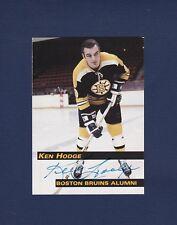 Ken Hodge signed Boston Bruins 1998 Alumni hockey card