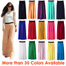 Women Maxi Skirt Double Layer Chiffon Pleated Retro Long Dress Elastic Waist Hot