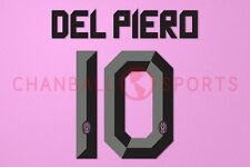 Del Piero #10 2010-2012 Juventus Awaykit Nameset Printing