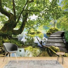 Wall Mural Wallpaper Forest Trees Nature - Living Room Photo Wallpaper (11235V8)