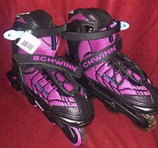 New Schwinn Girls Switcher Skate Quality Pink In-line Rollerblades Size 5-8