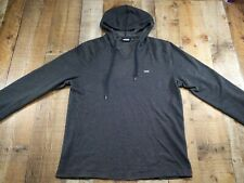Vans Lightweight Pullover Hoodie Mens Size Large Dark Gray Heather