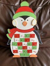 Reusable Wooden Penguin Advent Calendar